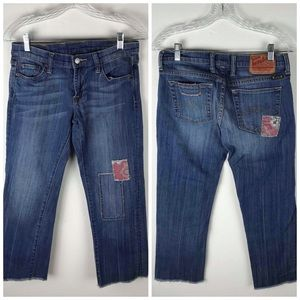 Denim - Lucky Brand Honey Suckle Crop Jeans